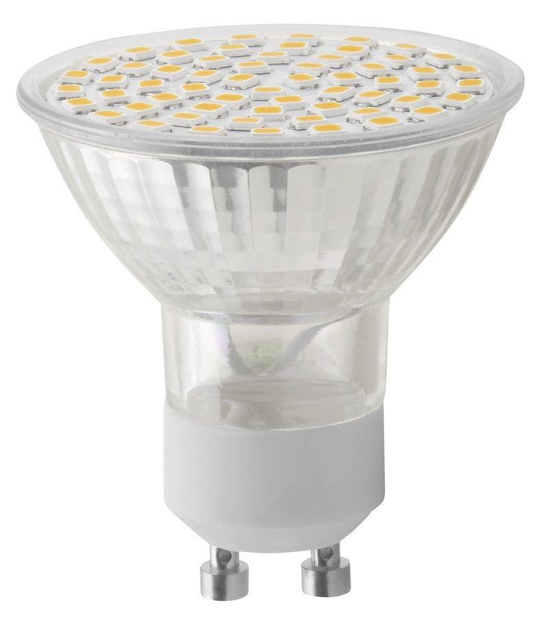 LED bodová žárovka 6W, GU10, 230V, teplá bílá, 410lm