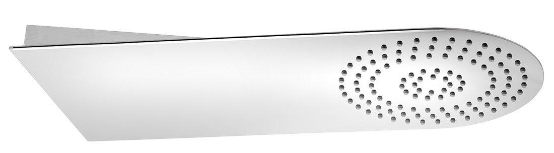 SLIM nástěnná hlavová sprcha 220x500x2,4mm, kulatá, leštěný nerez