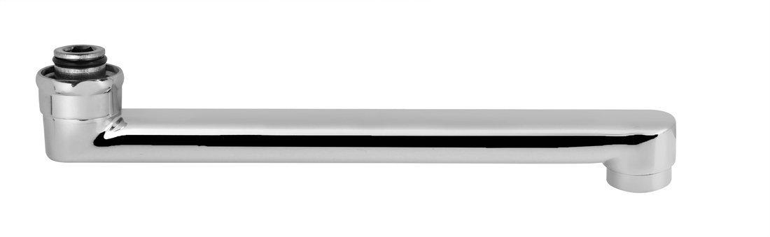 Výtokové ramínko kbaterii, 20cm, ploché, chrom