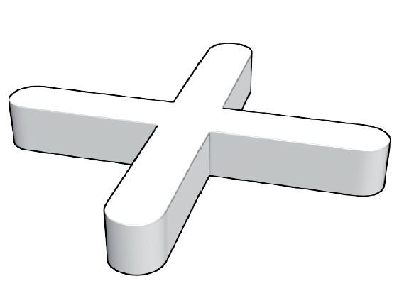 Plastové křížky do obkladů, 2mm, 200ks