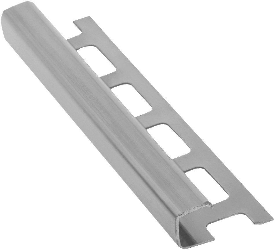 Lišta k obkladům H, nerez pololesk, L250cm, 8mm