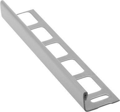 Lišta k obkladům L, kartáčovaná nerez, L250cm, 12,5mm