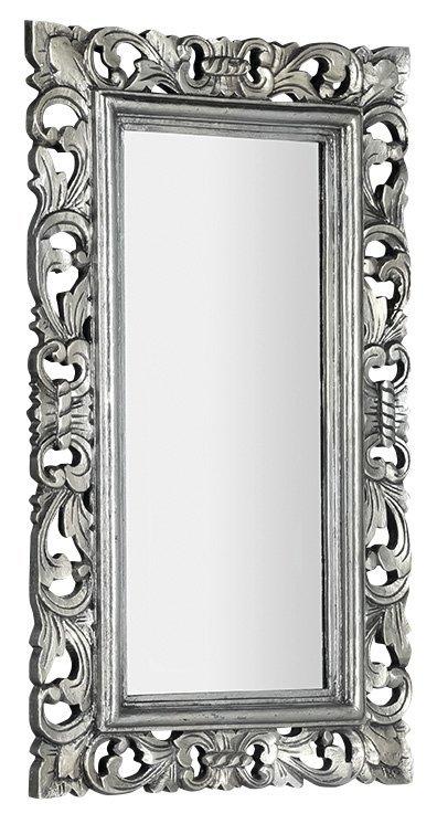 SAMBLUNG zrcadlo v rámu, 40x70cm, stříbrná