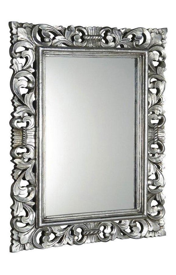 SCULE zrcadlo v rámu, 70x100cm, stříbrná