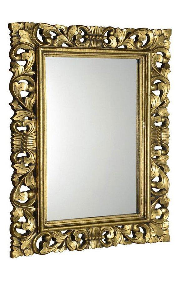 SCULE zrcadlo v rámu, 70x100cm, zlatá
