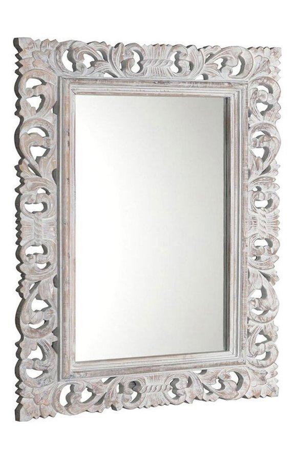 SCULE zrcadlo v rámu, 70x100cm, bílá