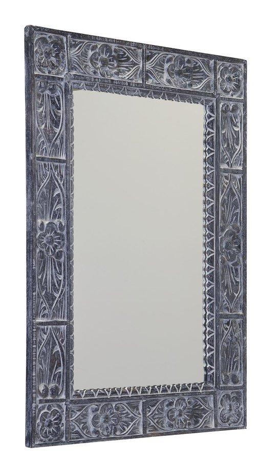 UBUD zrcadlo v rámu, 70x100cm, šedá