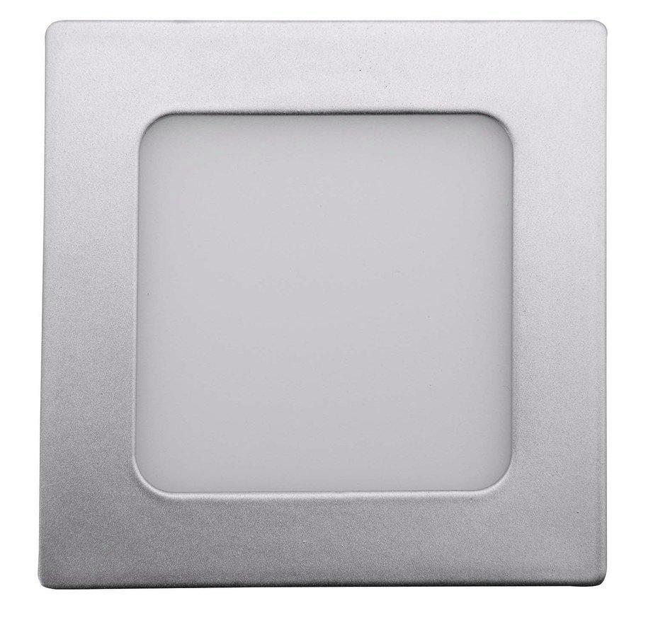 START LED podhledové svítidlo, 6W, 230V, 120x120mm, denní bílá, 430lm, stříbrná