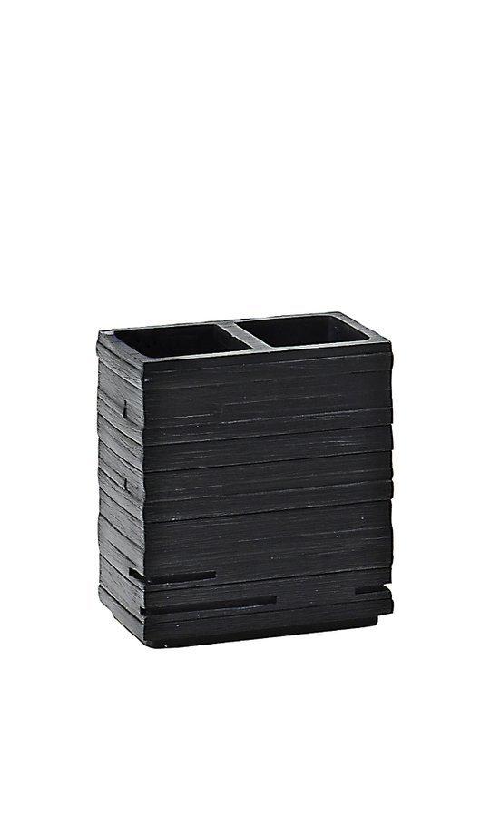 QUADROTTO držák kartáčků na postavení, černá