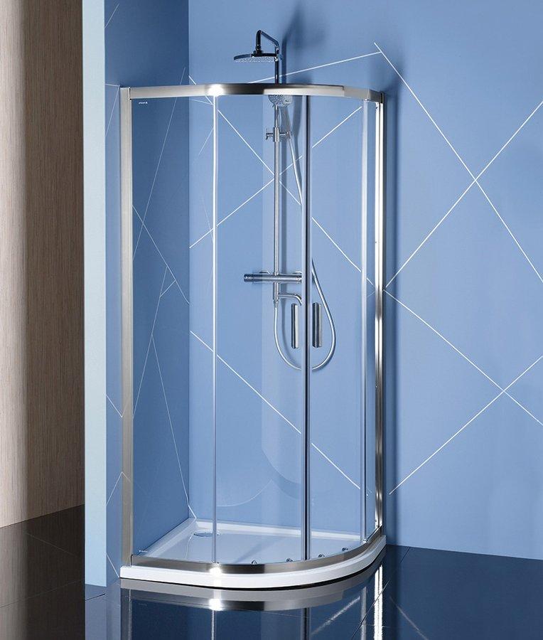 EASY LINE čtvrtkruhová sprchová zástěna 900x800mm, L/R, čiré sklo