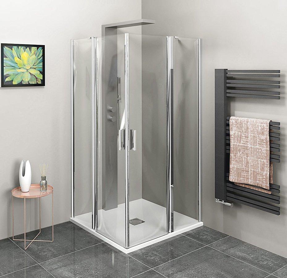 ZOOM LINE čtvercová sprchová zástěna 900x900mm, čiré sklo