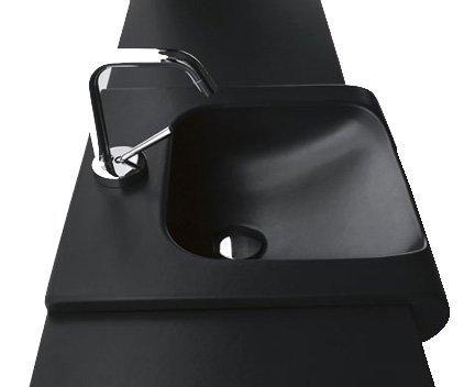 INKA keramické umyvadlo 40x40cm, černá mat