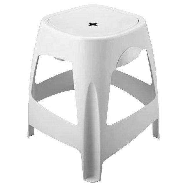 Stolička koupelnová s úložným prostorem, bílá