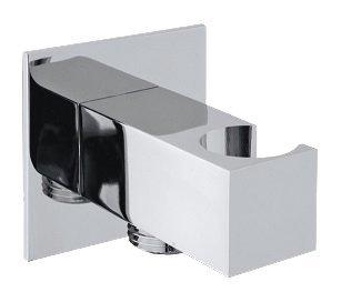Držák sprchy hranatý, pevný, s vyústěním, chrom