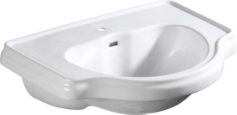 RETRO keramické umyvadlo 62x45,5cm, zápustné