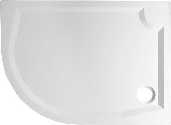 RIVA sprchová vanička z litého mramoru, čtvrtkruh 100x80cm, pravá