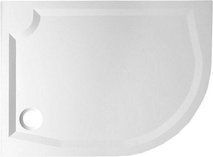 RIVA sprchová vanička z litého mramoru, čtvrtkruh 100x80cm, levá