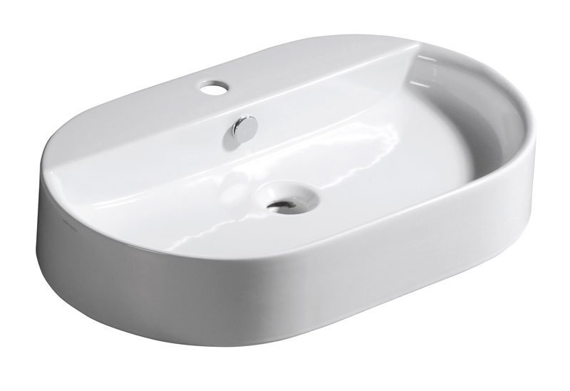 RING keramické umyvadlo 65x12x40cm, na desku