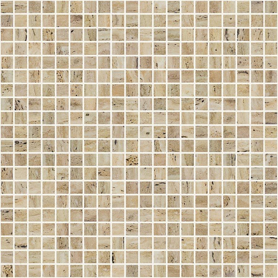 ZEN Travertino Glass mosaic 25x25 mm (plato 31,2x49,5) (bal.= 2,00m2)
