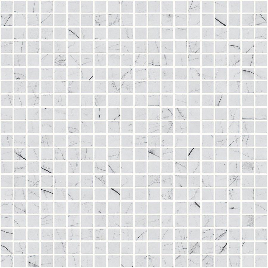 ZEN Carrara Glass mosaic 25x25mm (plato 31,2x49,5)