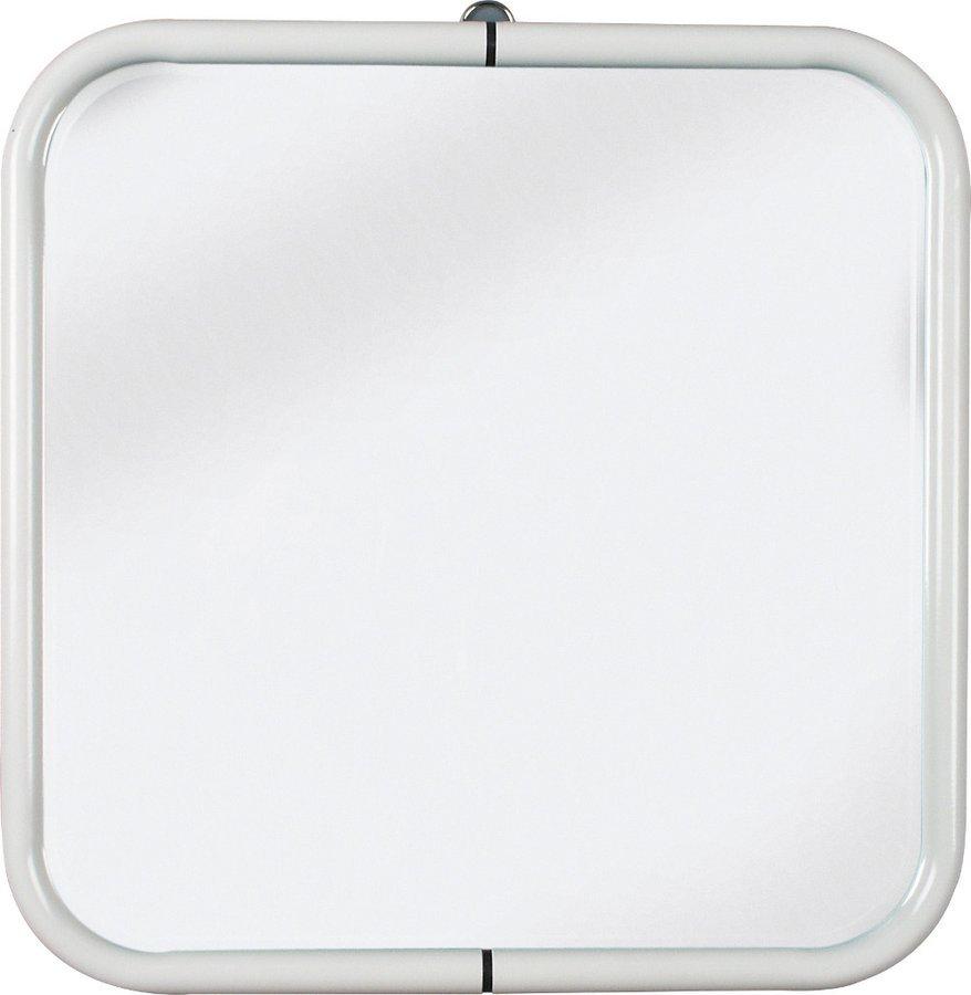 Zrcadlo 44x44cm, bílá