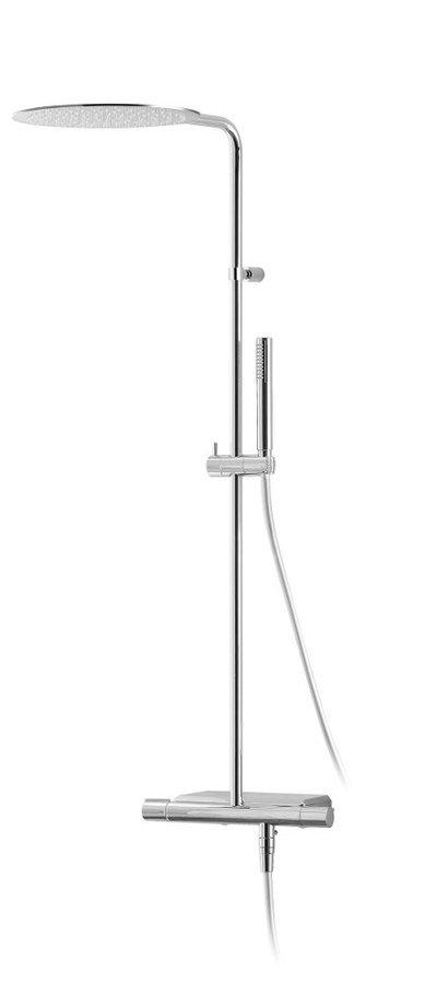 RHAPSODY sprchový sloup s termostatickou baterií, mýdlenka, chrom
