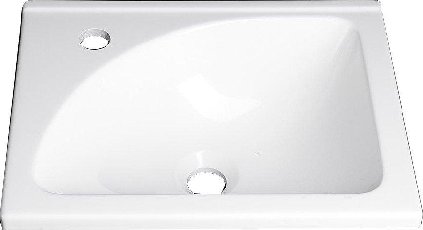 Umyvadlo 40x32 cm, litý mramor, bílá