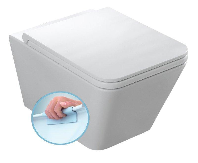 STORM závěsná WC mísa, Rimless, 36x55 cm, bílá