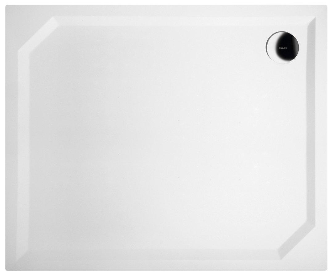 SARA sprchová vanička z litého mramoru, obdélník 90x75x3,5 cm, hladká