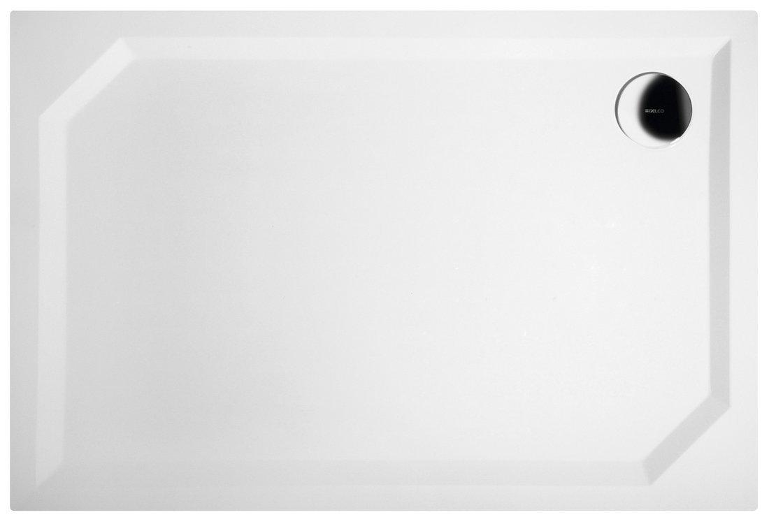 SARA sprchová vanička z litého mramoru, obdélník 110x75x3,5 cm, hladká