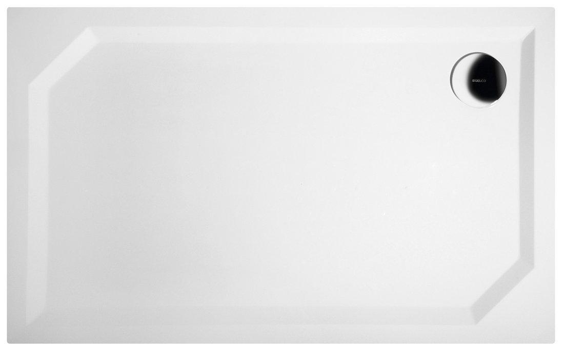 SARA sprchová vanička z litého mramoru, obdélník 120x75x3,5 cm, hladká