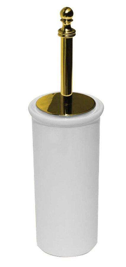 PERLA WC štětka na postavení, keramika, zlato