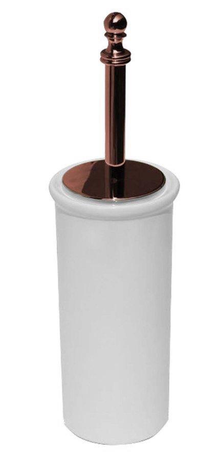 PERLA WC štětka na postavení, keramika, růžové zlato