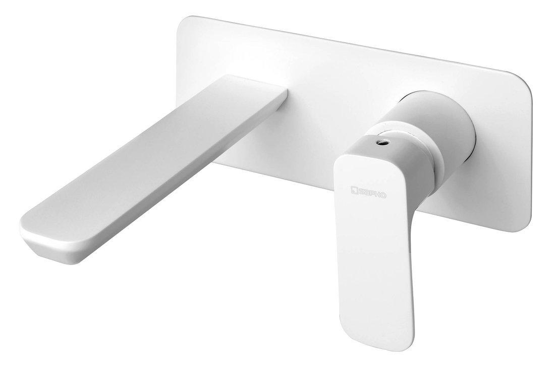 SPY podomítková umyvadlová baterie, bílá mat