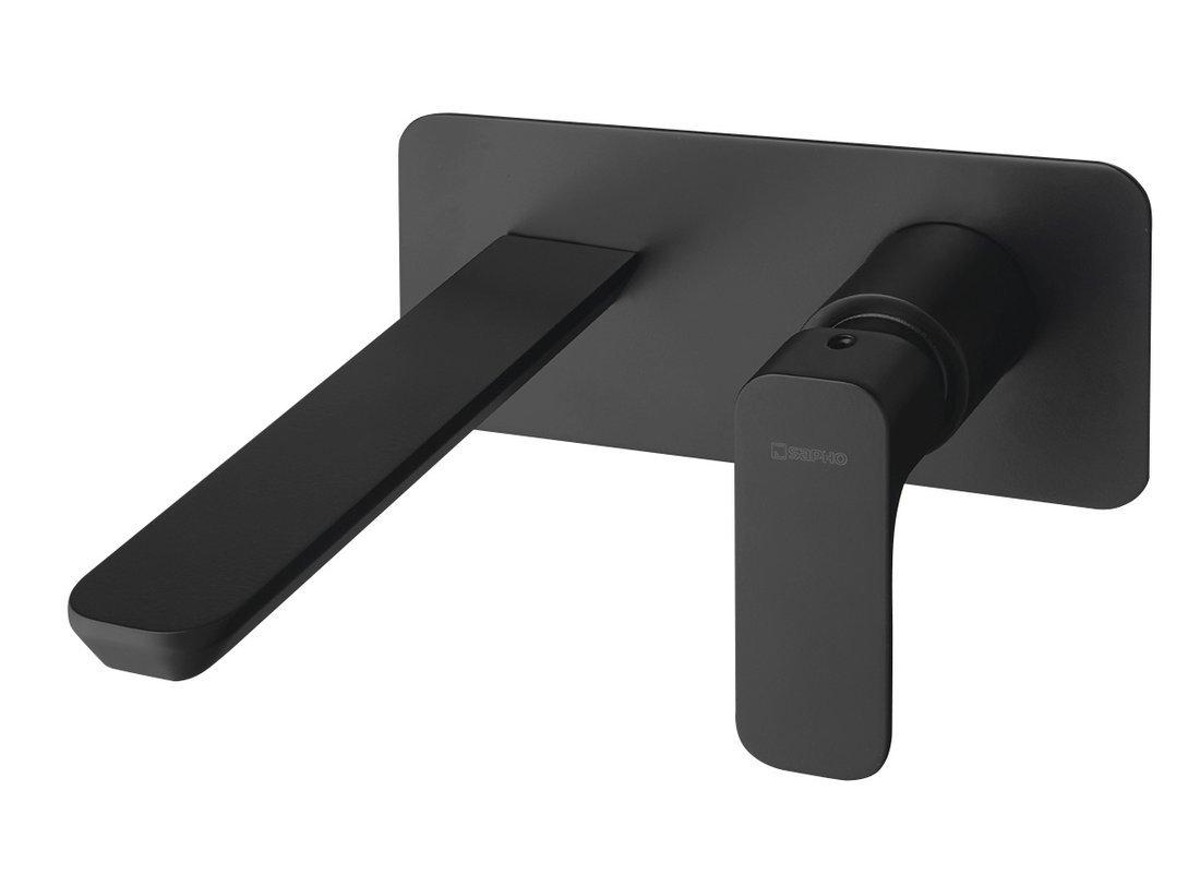 SPY podomítková umyvadlová baterie, černá mat