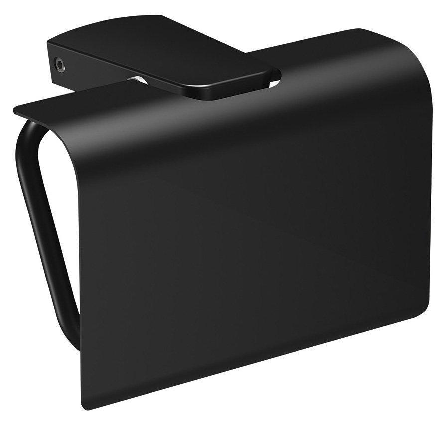 ZEN BLACK držák toaletního papíru s krytem