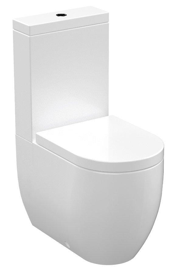 FLO WC kombi, spodní/zadní odpad, bílá