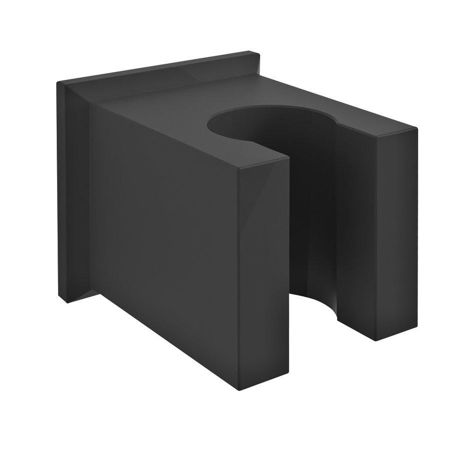 Držák sprchy hranatý, pevný, černá mat