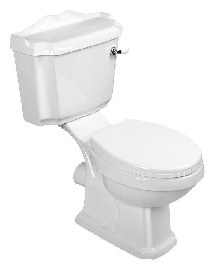 ANTIK WC kombi retro + sedátko, bílá