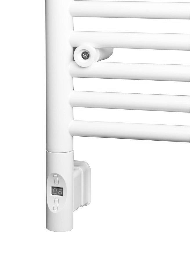 Elektrická topná tyč s termostatem a dálkovým ovládáním, 600 W, kulatá, bílá