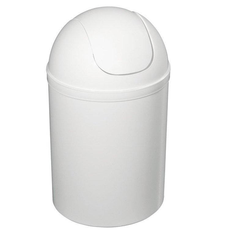 Odpadkový koš výklopný, 5l, plast, bílá