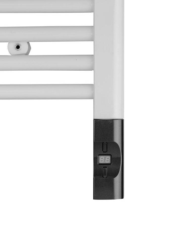 Elektrická topná tyč s termostatem a dálkovým ovládáním, 900 W, D-tvar, antracit