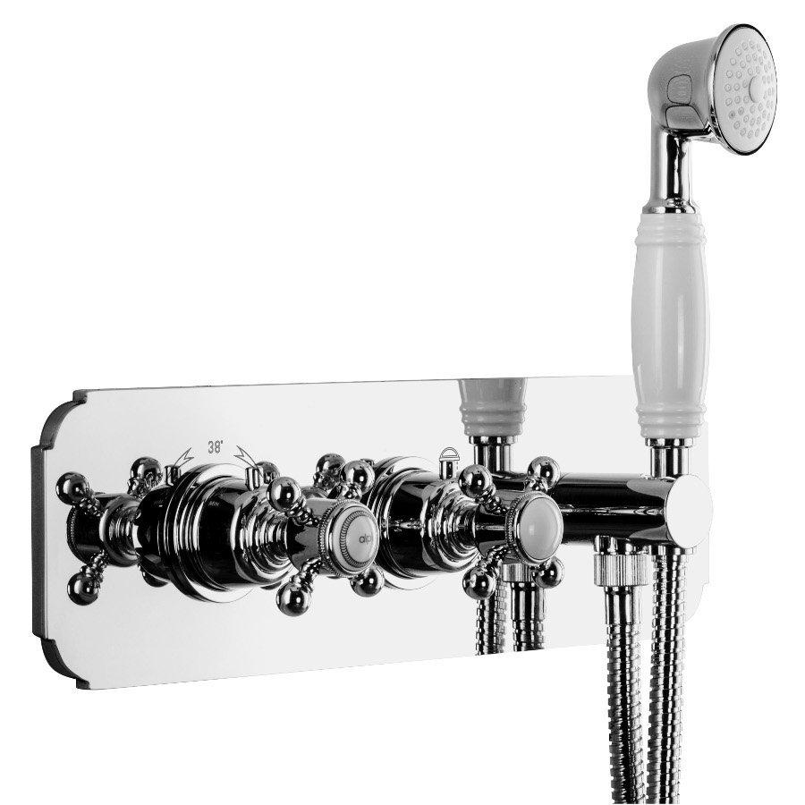 SASSARI podom. sprchová term. baterie,ruční sprcha,držák,2 cesty,chrom