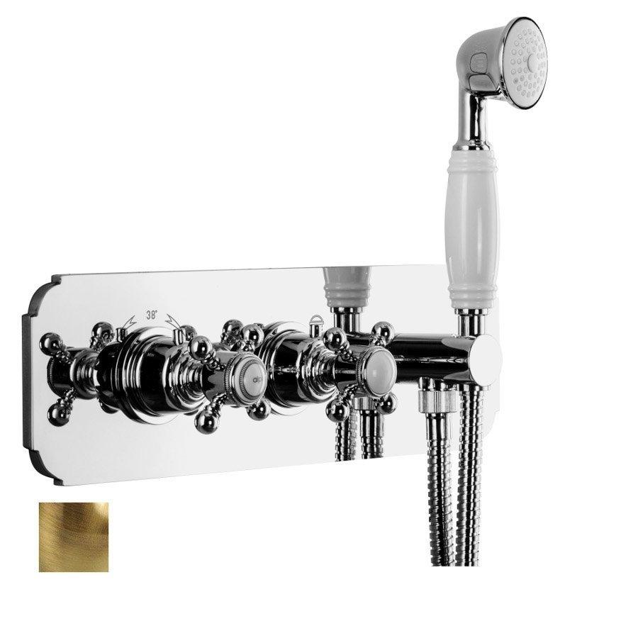 SASSARI podom.sprch. term. bat.,ruč. sprcha, držák,2 výstupy,bronz