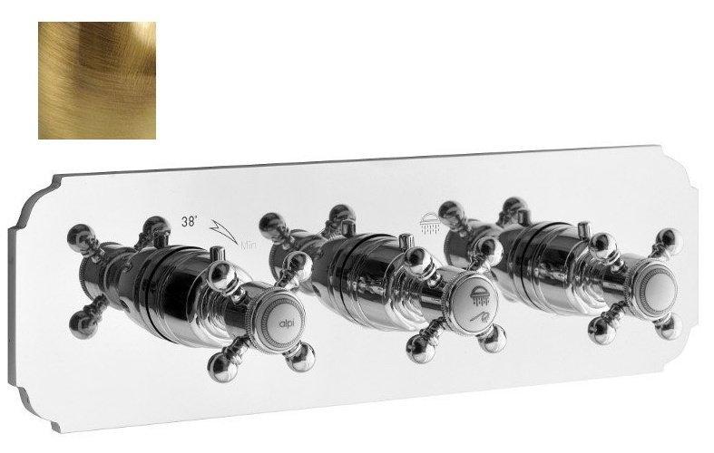 SASSARI podom. sprchová termostatická baterie, 3 výstupy, bronz