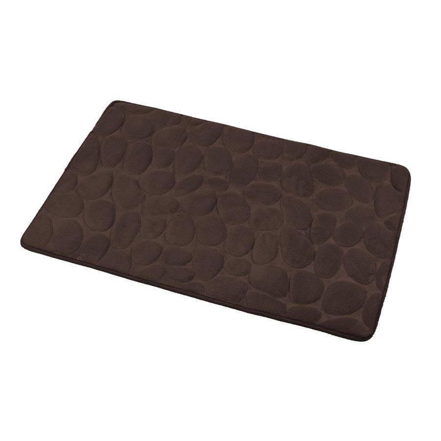 Koupelnová předložka, 50x80 cm, 100% mikrovlákno, protiskluz, tmavě hnědá