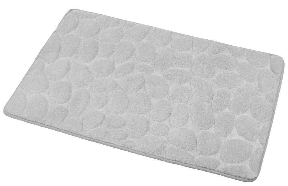 Koupelnová předložka, 50x80 cm, 100% mikrovlákno, protiskluz, šedá