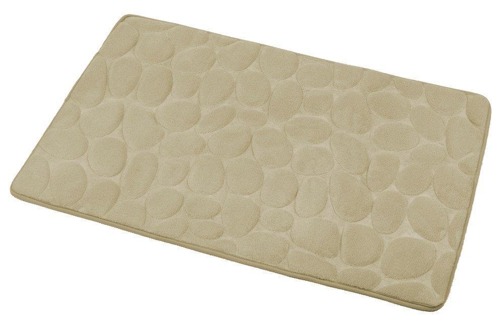 Koupelnová předložka, 50x80 cm, 100% mikrovlákno, protiskluz, béžová