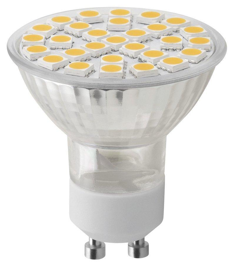 LED bodová žárovka 8W, GU10, 230V, teplá bílá, 680lm