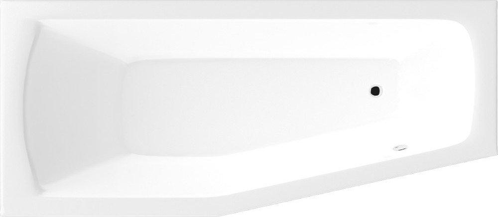OPAVA vana 160x70x44cm bez nožiček, levá, bílá